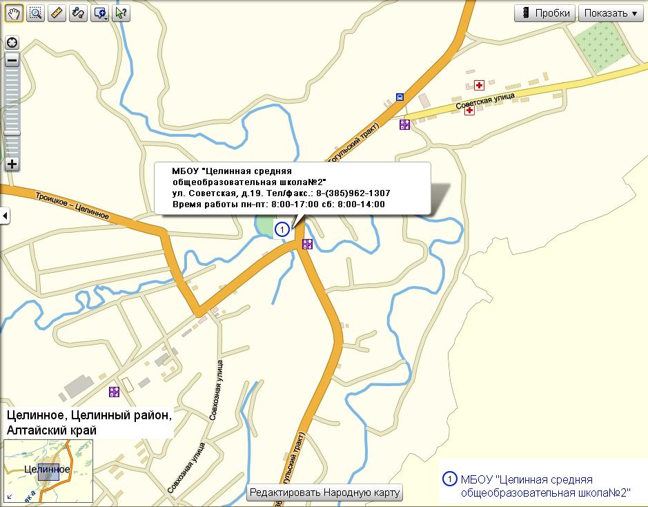Карта расположения учреждения